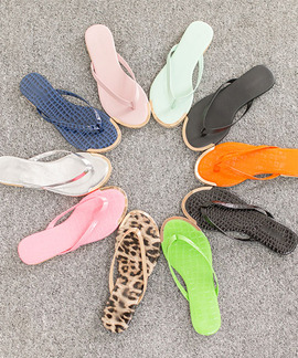 [무료배송]에펠리 금장 플리플랍 쪼리 샌들(black/silver/pink/leopard/mint/snake black/snake blue/snake green/snake pink/snake orange/1cm)