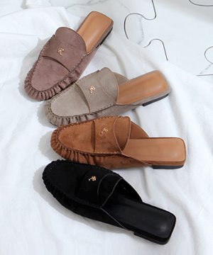 로잔 스웨이드 블로퍼(black/beige/light brown/dark brown/1.2cm)